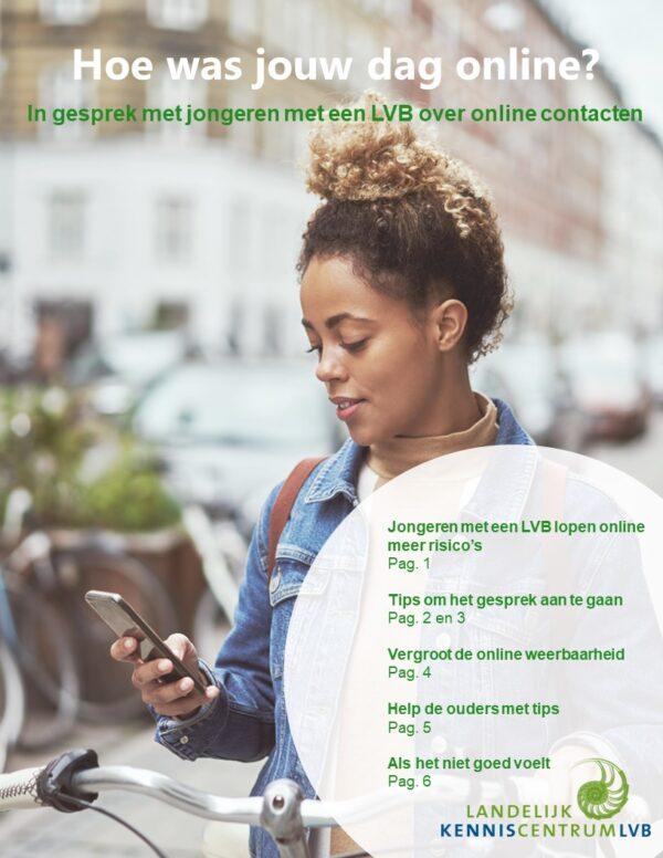 Voorblad in gesprek over online contacten